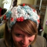 Jingle Bells Crocheted Headband by Heather Lightbody, Girl with a Hook
