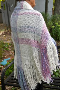 WP - FO - Triangle shawl in pale colors