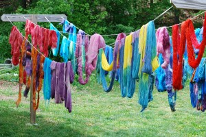 LC-FGF yarn on the line
