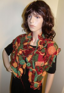 KW-UDBK Colorful Open Sweater