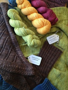 Finished samples from private label yarns