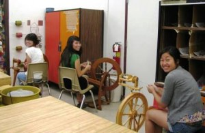 DPAS- A Students Spinning Yarn