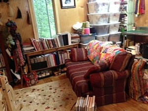 My reading area in the studio -- a good place to daydream