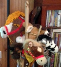 A carry over from childhood...my collection of stick horses!