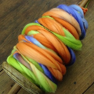 ODC - HSY - orange, green blue, spindle
