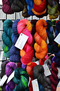 The Marigoldjen booth - gorgeous hand painted yarns