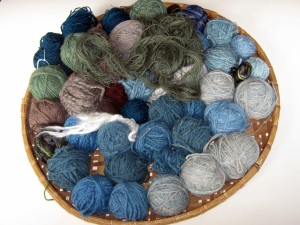 LR - Yarns in blues